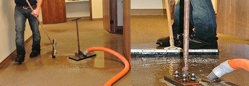 Emergency water damage restoration in Molesworth
