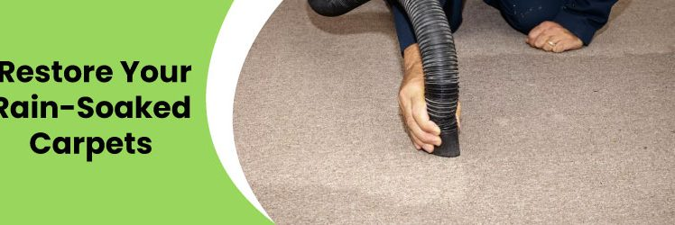 Ways to restore your rain-soaked carpets